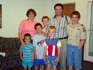 Chambers Family, August 2003